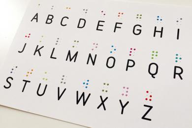 Postkarten-Set Braille-Alphabet