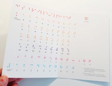 Klappkarten-Set Braille-Alphabet