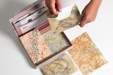 Briefpapier-Set Maps