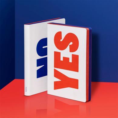 Notizbuch Yes - No, blue/red