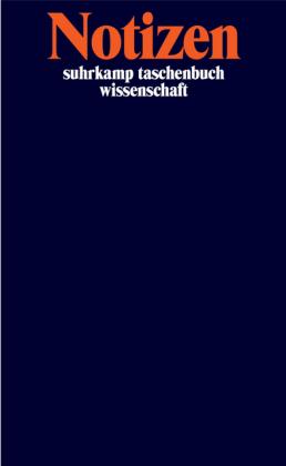 Suhrkamp Verlag: Notizbuch suhrkamp taschenbuch wissenschaft
