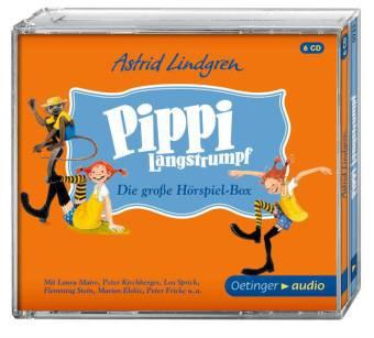 Peter Kirchberger, Lea Sprick, Flemming Stein, Cäcilie Heinig, Dieter Faber, Frank Gustavus, Astrid Lindgren: Pippi Langstrumpf. Die grosse Hörspielbox (6 CD)