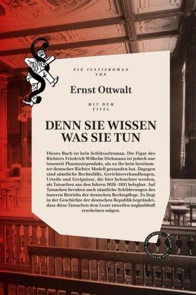 Ernst Ottwalt: DENN SIE WISSEN WAS SIE TUN
