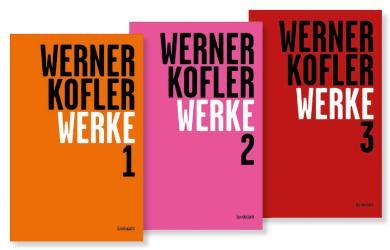 Werner Kofler: Werke, 3 Bde.