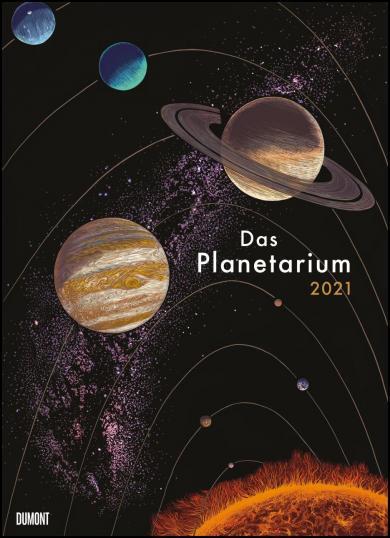 Raman Prinja, Chris Wormell: Das Planetarium 2021 - Astronomie im Wand-Kalender - Illustriert von Chris Wormell - Poster-Format 49,5 x 68,5 cm