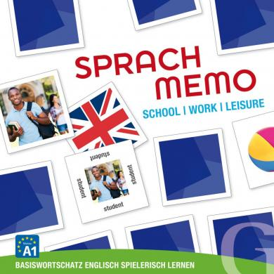Grubbe Media: Sprachmemo Englisch: School / Work / Leisure