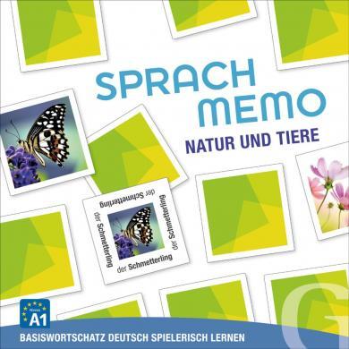 Grubbe Media: Sprachmemo Deutsch: Natur und Tiere