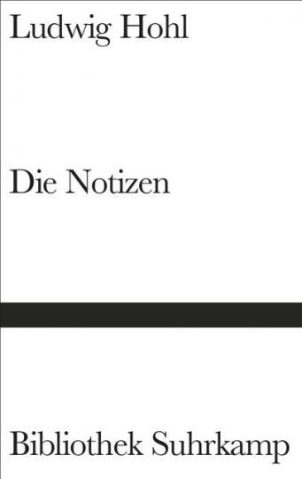 Ludwig Hohl: Die Notizen oder Von der unvoreiligen Versöhnung