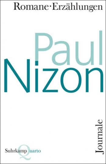 Paul Nizon: Romane, Erzählungen, Journale