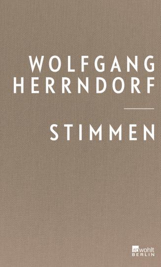 Wolfgang Herrndorf: Stimmen