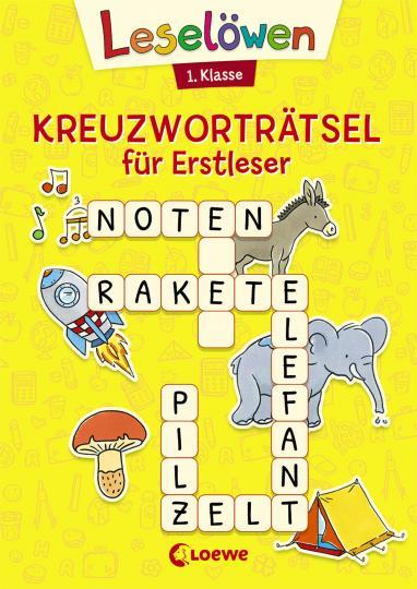 Kristin Labuch: Leselöwen Kreuzworträtsel für Erstleser - 1. Klasse (Gelb)