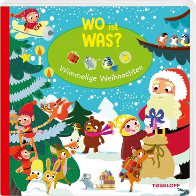 Julia Reindl, Iris Blanck: WO ist WAS? Wimmelige Weihnachten. Pappebuch für Kinder ab 2 Jahren