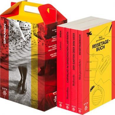 Carmen Laforet, Manuel Vázquez Montalbán, Mercè Rodoreda: SZ Literaturkoffer Spanien | Bücher Set | Literatur-Sammlung mit Rodoreda, Laforet und Montalbán | 4 Taschenbücher