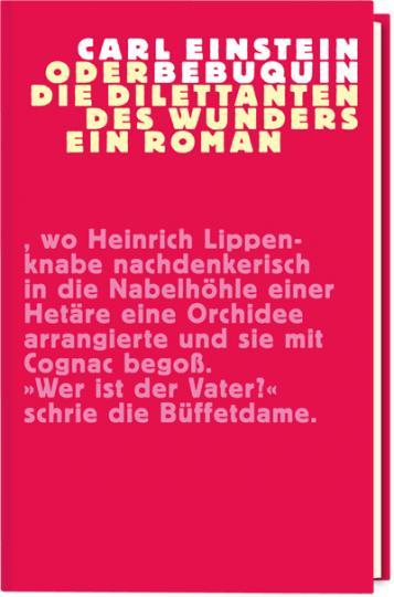 Hubertus Giebe, Carl Einstein: Bebuquin